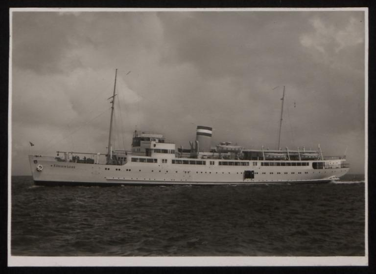 Photograph of Konigin Luise, Hamburg Amerika Line card