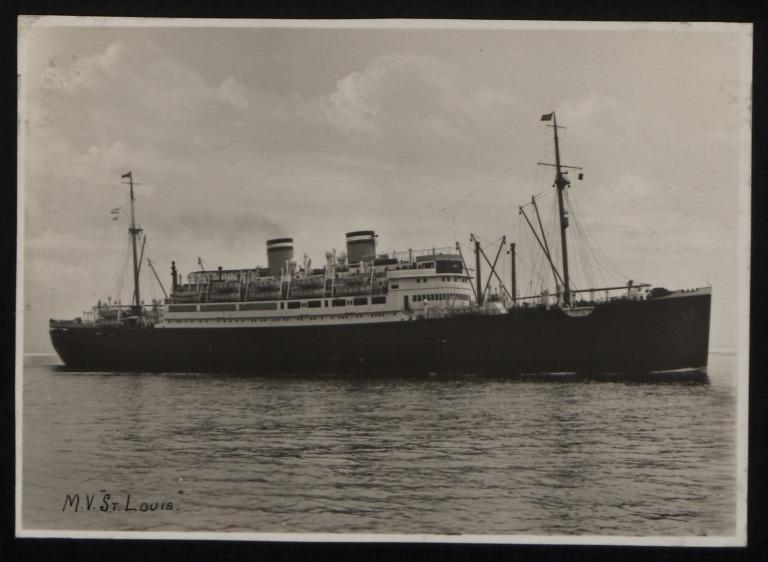 Photograph of St Louis, Hamburg Amerika Line card