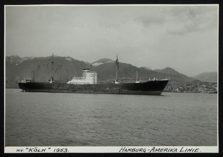 Photograph of Koln, Hamburg Amerika Line card