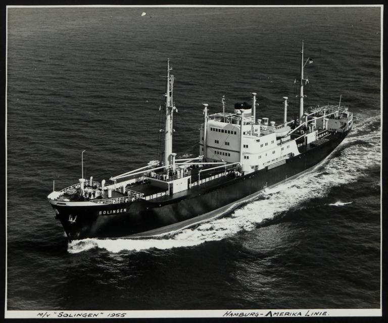 Photograph of Solingen, Hamburg Amerika Line card