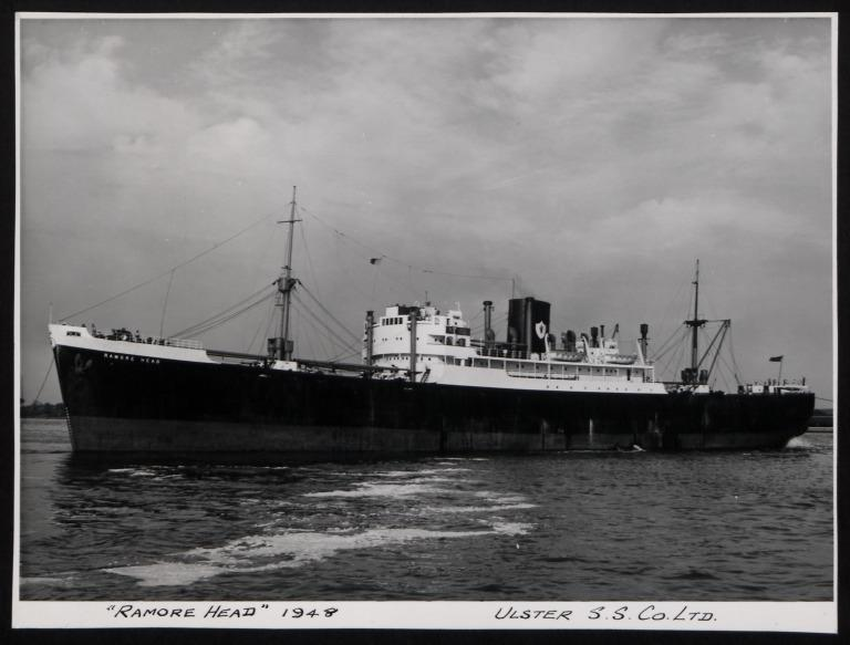 Photograph of Ramore Head, Ulster Steamship Company card
