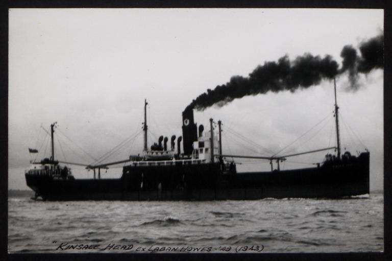Photograph of Kinsale Head (ex Laban Howes), Ulster Steamship Company card