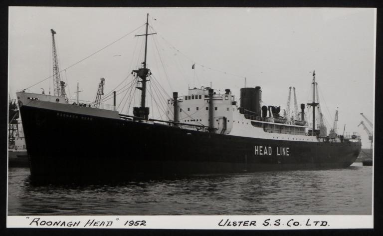 Photograph of Roonagh Head, Ulster Steamship Company card