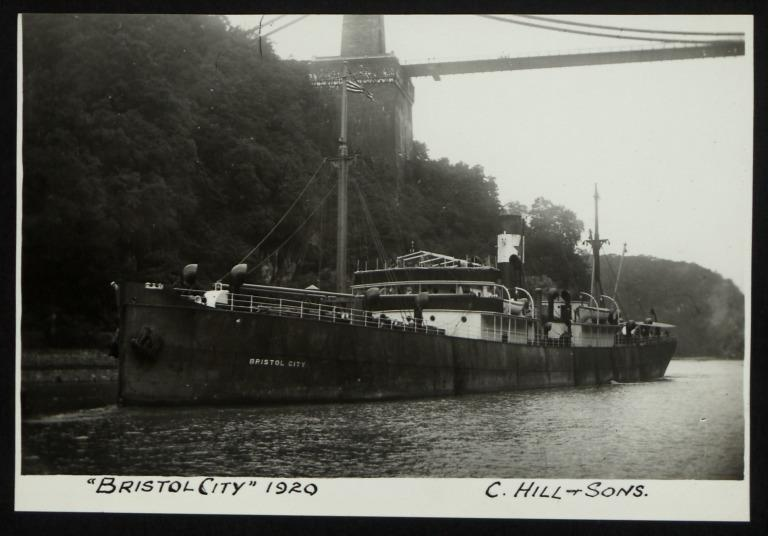 Photograph of Bristol City, Bristol City Line card