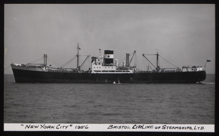 Photograph of New York City, Bristol City Line card