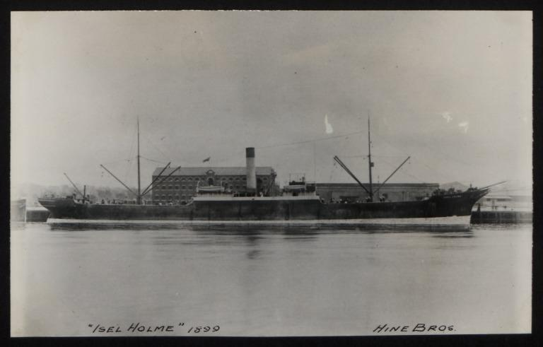 Photograph of Isal Hine, Hine Bros card