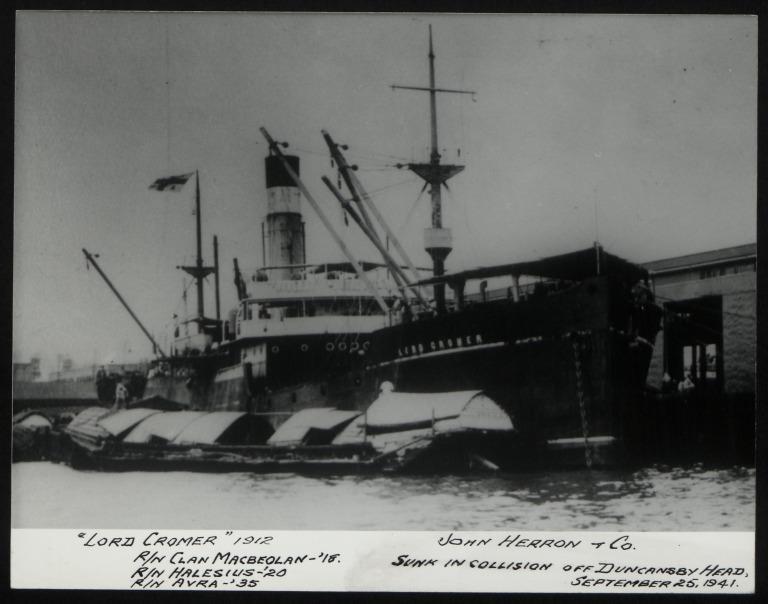 Photograph of Lord Cromer, John Herron card