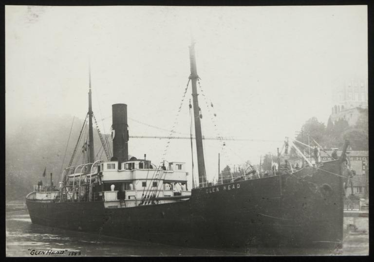 Photograph of Glen Head, Ulster Steamship Company card