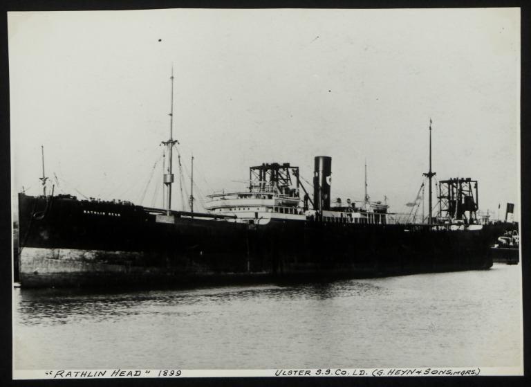 Photograph of Rathlin Head, Ulster Steamship Company card