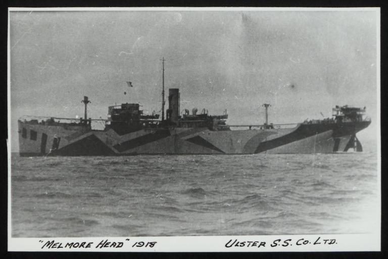 Photograph of Melmore Head, Ulster Steamship Company card