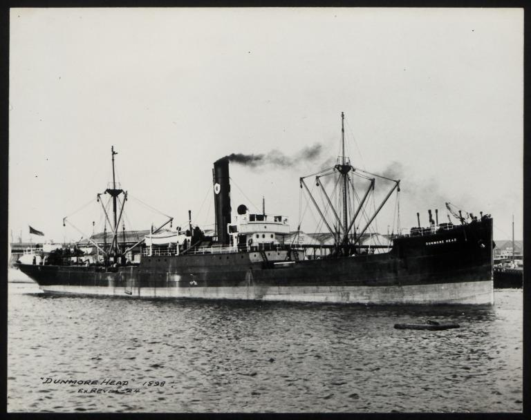 Photograph of Dunmore Head (ex Revel), Ulster Steamship Company card