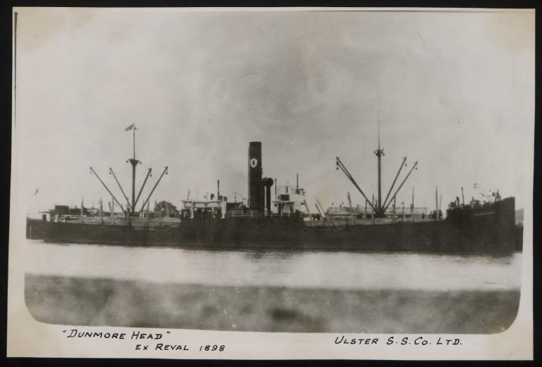 Photograph of Dunmore Head (ex Reval), Ulster Steamship Company card