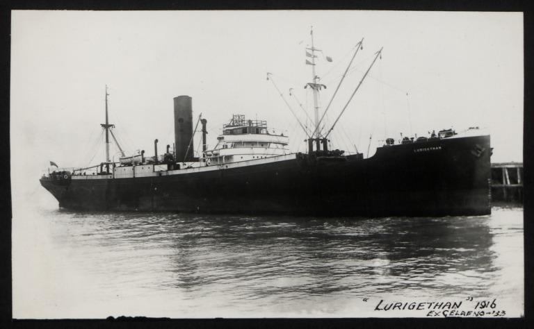 Photograph of Lurigethan (ex Celaeno), Mountain S S Co card