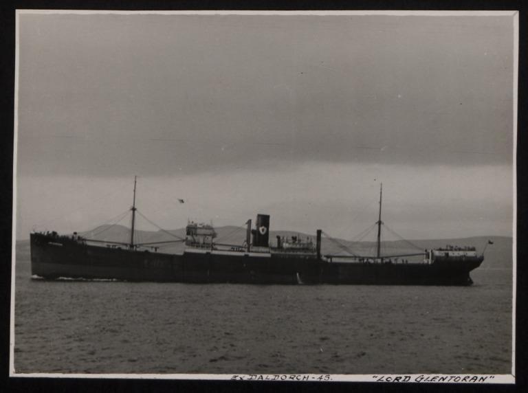 Photograph of Lord Glentoran (ex Daldorch), Ulster Steamship Company card
