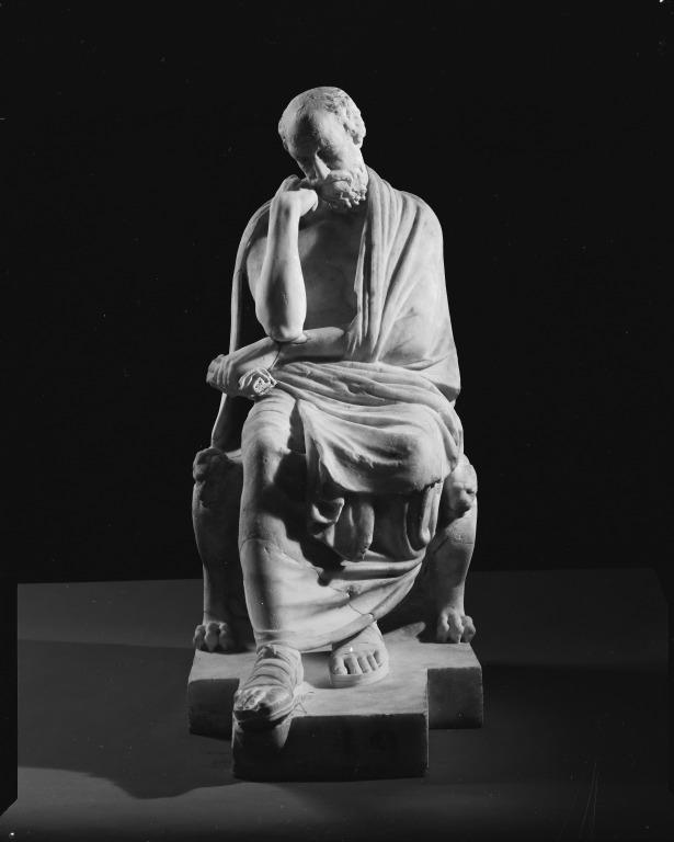 Statuette of Epicurus card