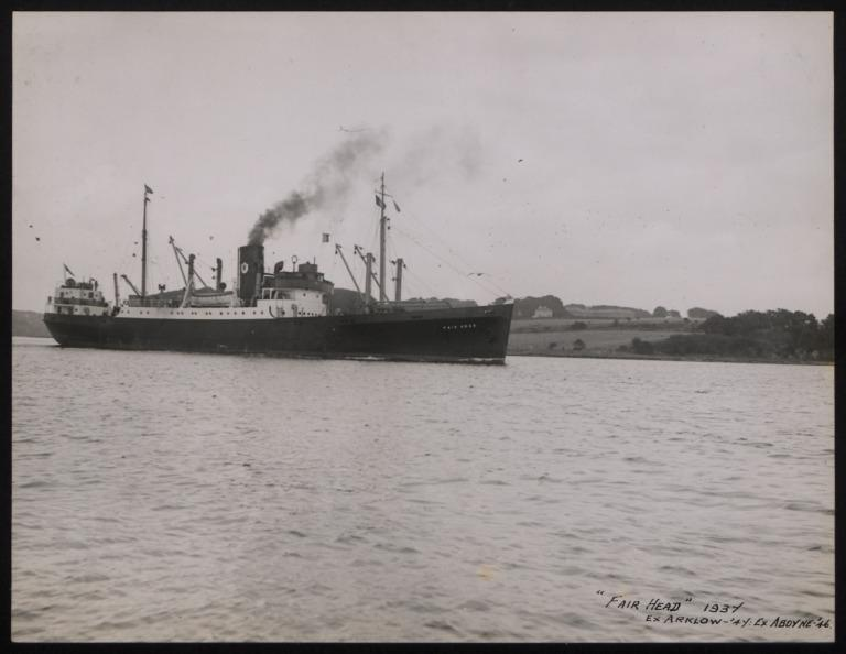Photograph of Fair Head (ex Arklow), Ulster Steamship Company card