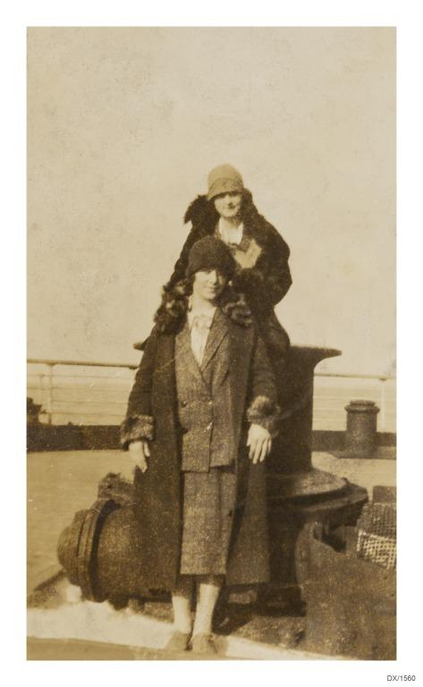 Voyage accounts and ephemera relating to Anne Smith Stewardess with Cunard Line 1920-1930. card