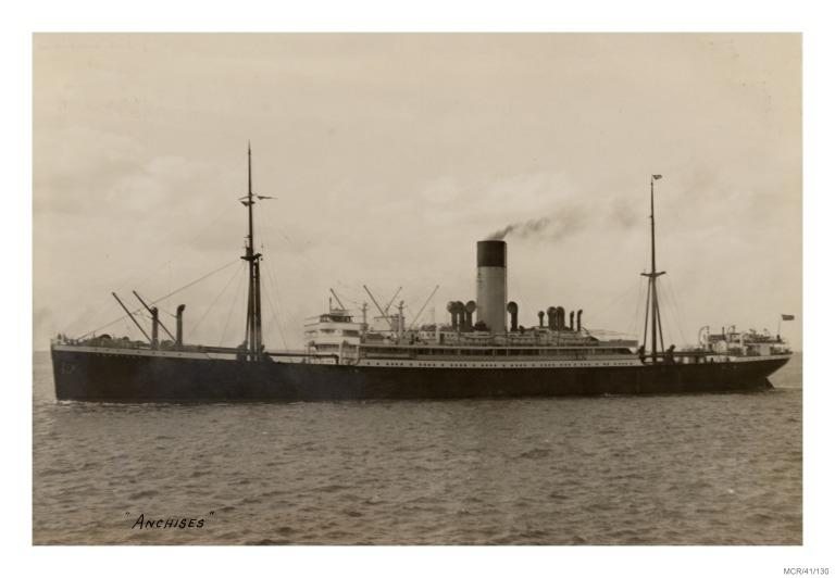 Photograph of Anchises, Alfred Holt card