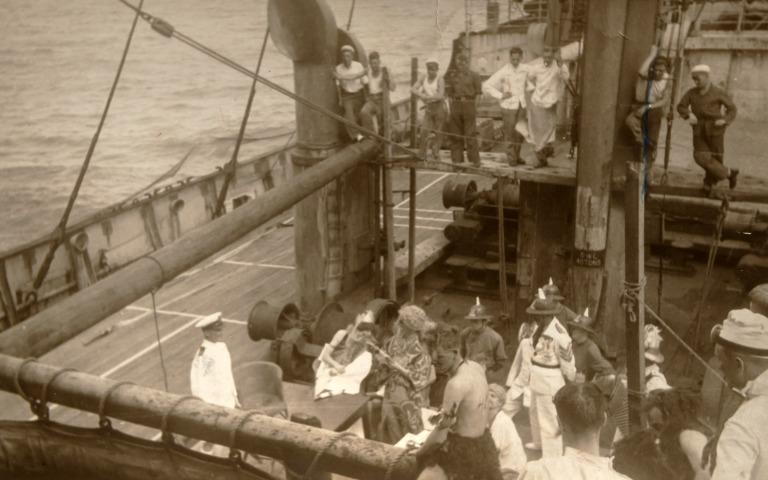 Photographs taken by James Stewart (1908-1989), Blue Funnel (Ocean Steamship Company) card