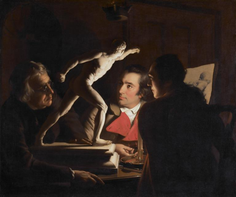 Three persons viewing the Gladiator by candle-light card