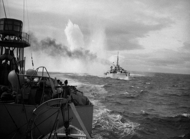 Album of photographs etc by Dr Gordon Canti, Surg. Lt. R. N. V. R., medical officer, HMS Wren. card