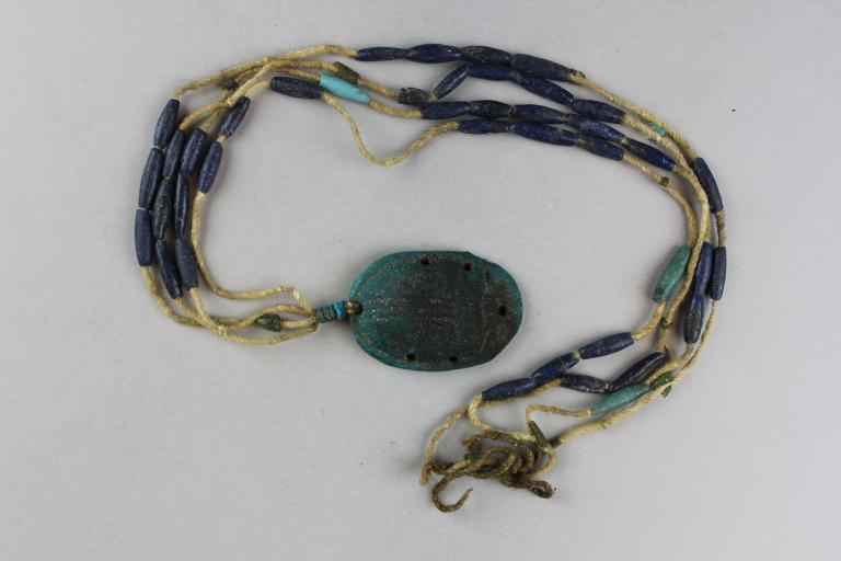 Funerary Scarab and String of Beads card