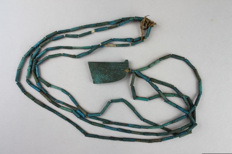 Funerary Scarab Wing and String of Beads card