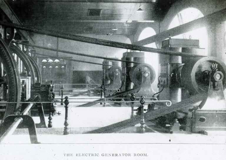 Overhead Railway Electric Generator Room card