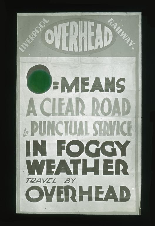 Foggy weather warning poster card