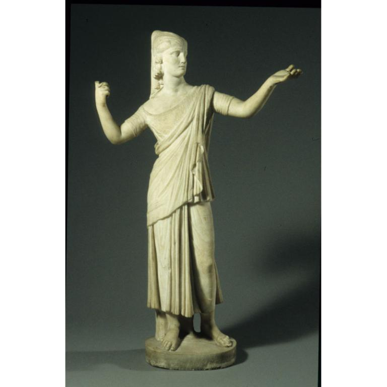 Sculpture of Female with Egyptianizing Headdress card