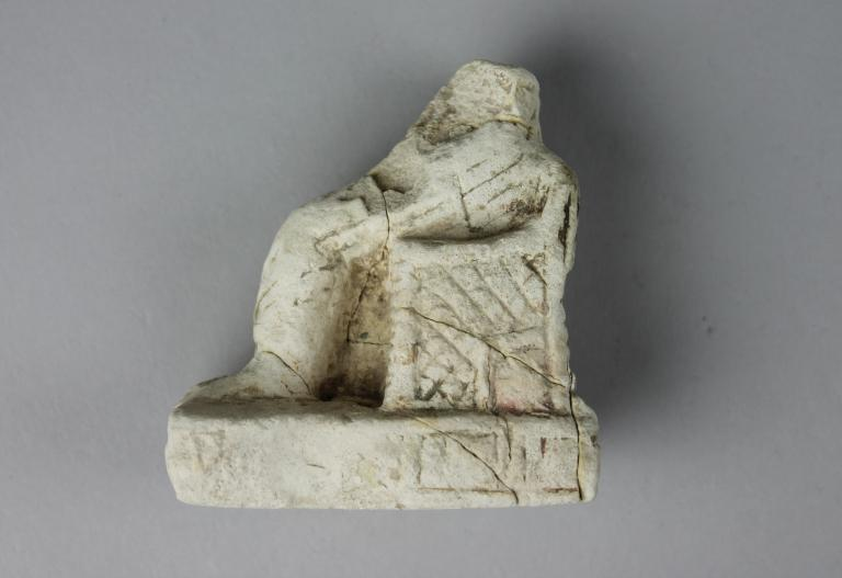 Statue of Isis and Horus card