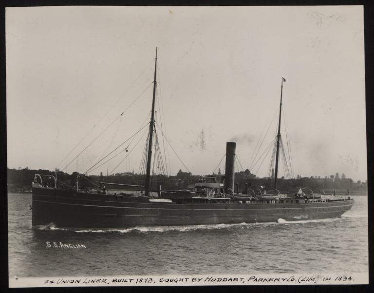 Photograph of Anglian, Huddart Parker card