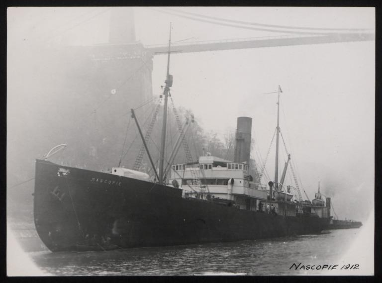 Photograph of Nascopie, Hudsons Bay Co card