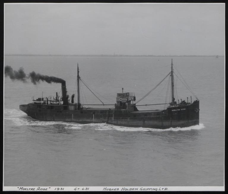 Photograph of Moelfre Rose, Hughes Holden card