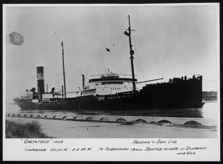Photograph of Gretafield, Hunting and Son card