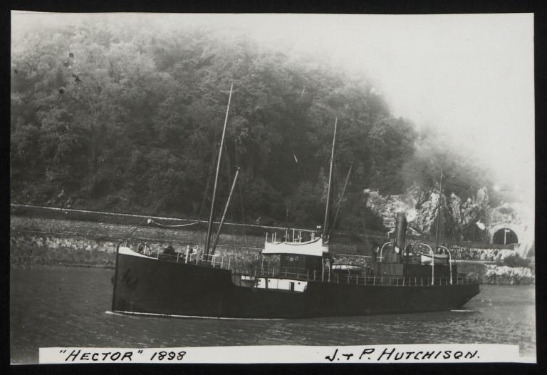 Photograph of Hector, J P Hutchison card