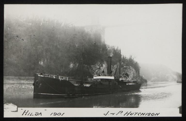 Photograph of Hilda, J P Hutchison card