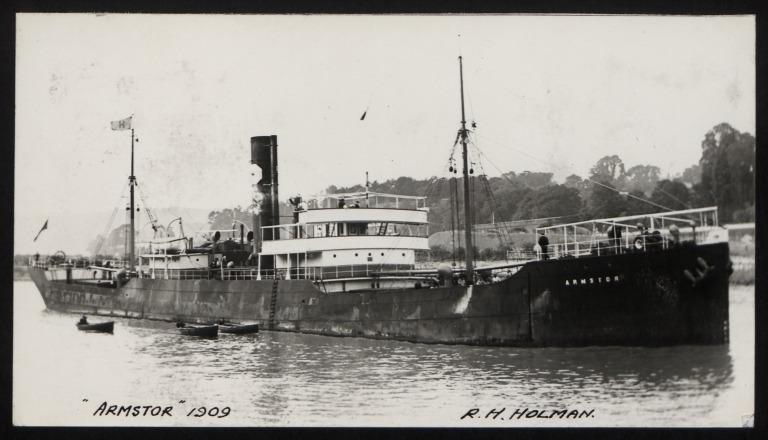 Photograph of Armstor, R H Holman card