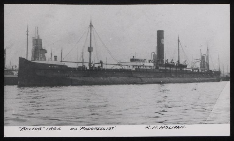 Photograph of Beltor (ex Progressist), R H Holman card