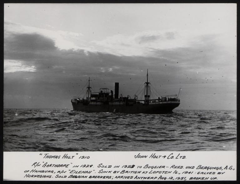 Photograph of Thomas Holt, John Holt and Company card