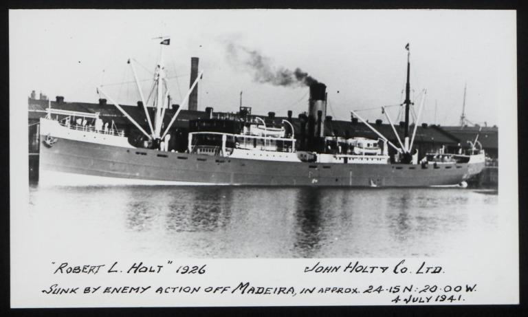 Photograph of Robert L. Holt, John Holt and Company card
