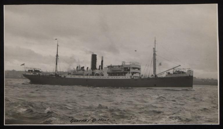 Photograph of Godfrey B Holt, John Holt and Company card
