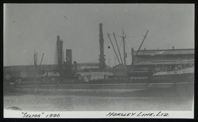 Photograph of Selma, Horsley Line Ltd card