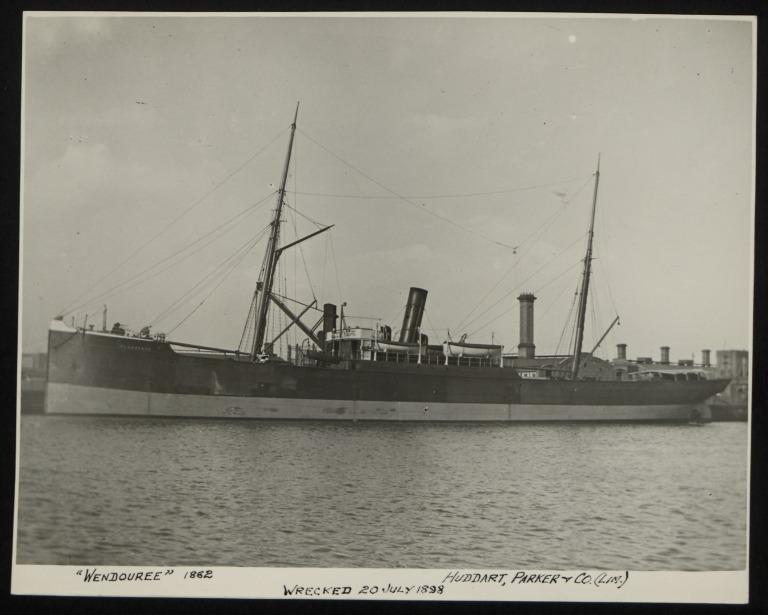 Photograph of Wendouree, Huddart Parker card
