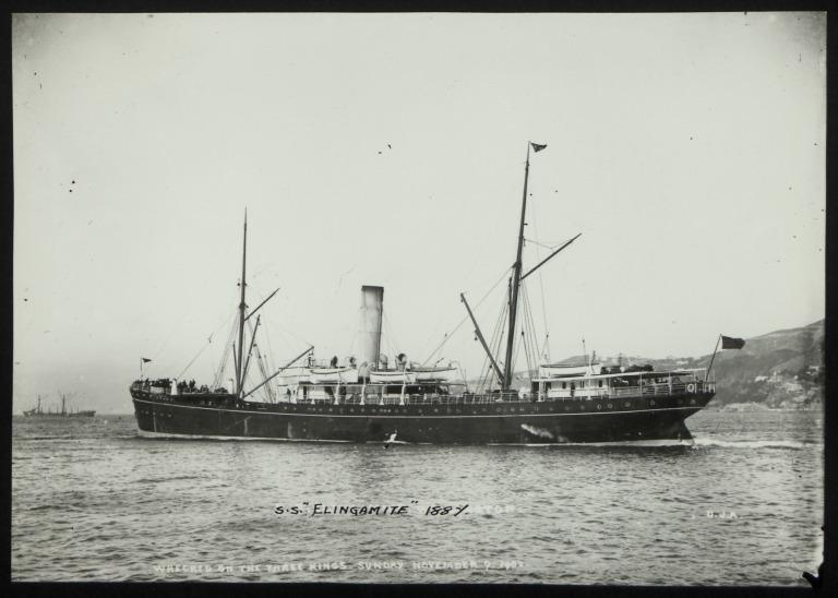 Photograph of Elingamite, Huddart Parker card