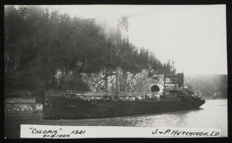 Photograph of Chloris (ex Eider), J P Hutchison card