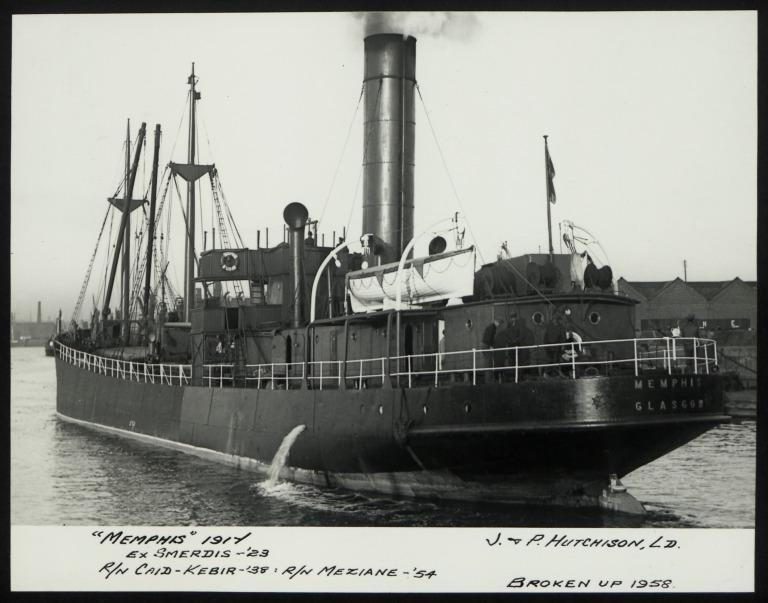 Photograph of Memphis (ex Smerdis), J P Hutchison card