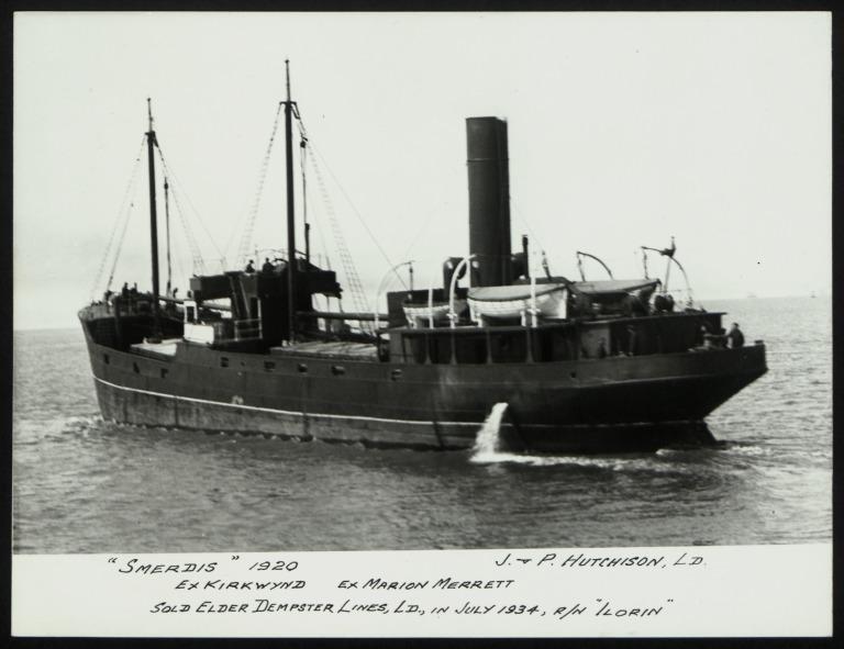 Photograph of Smerdis (ex Kirkwynd), J P Hutchison card