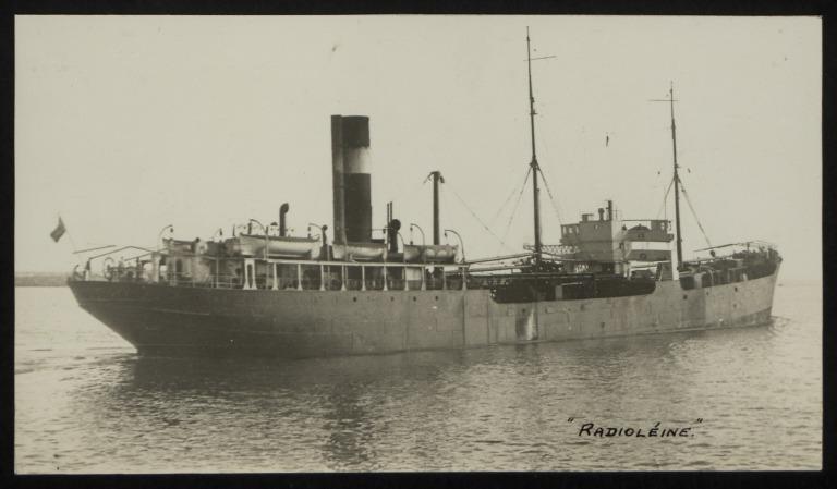 Photograph of Radioleine, Irvin and Johnson card
