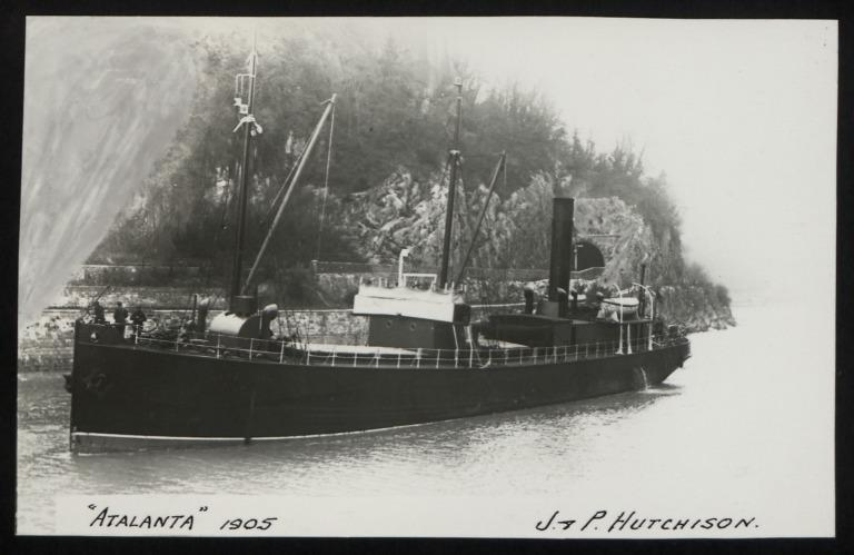 Photograph of Atalanta, J P Hutchison card